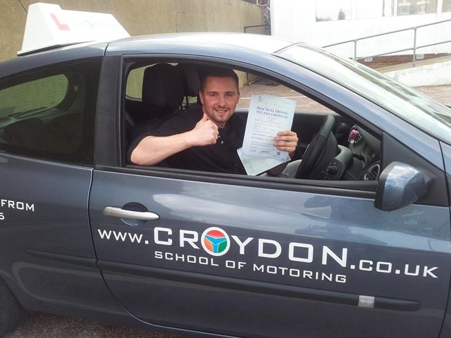 Krzysztof już zdobył prawo jazdy w Wielkiej Brytanii